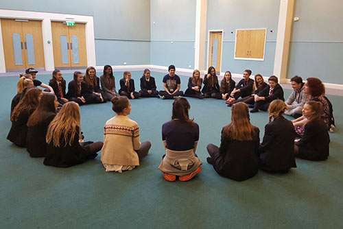 Our Girl campaign Peer Productions Youth and Theatre workshop, Woking 2016.